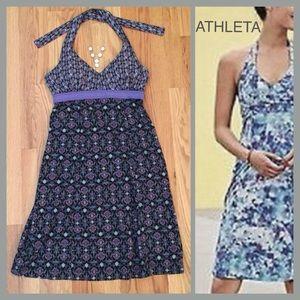 ATHLETA Pack Everywhere Silky Halter Dress